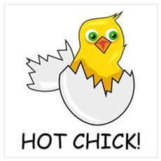 HOT CHICK! Framed Print