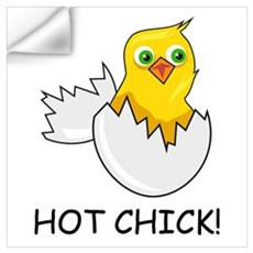 HOT CHICK! Wall Decal