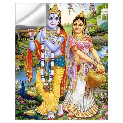 Krishna and Radha Un Wall Decal