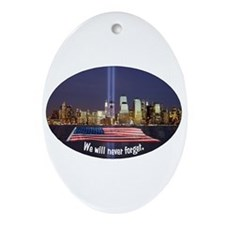 9-11 We Will Never Forget Ornament (Oval)