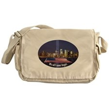 9-11 We Will Never Forget Messenger Bag
