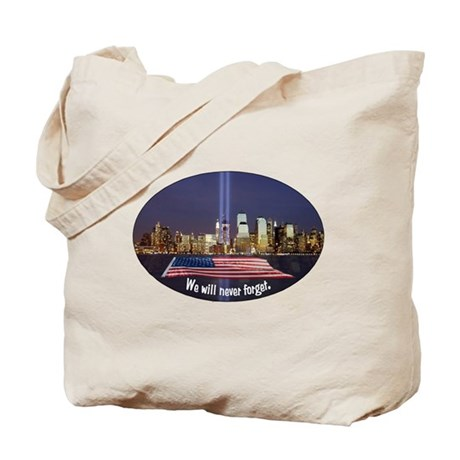 9-11 We Will Never Forget Tote Bag