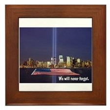 9-11 We Will Never Forget Framed Tile