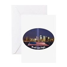 9-11 We Will Never Forget Greeting Card