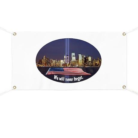 Never Forget 911 24x36 Garden Banner  afrizonacom