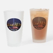 9-11 We Will Never Forget Drinking Glass