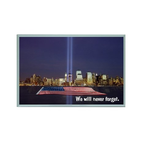 9-11 We Will Never Forget Rectangle Magnet