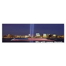 9-11 We Will Never Forget Bumper Sticker