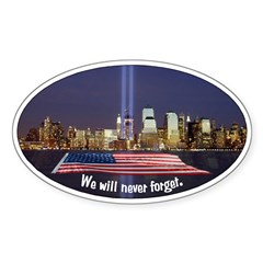 9-11 We Will Never Forget Decal