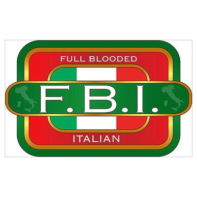 Full Blooded Italian Poster