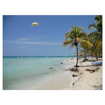 7 Mile Beach Negril Jamaica Poster