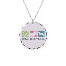 Peace, Love, Malinois Necklace