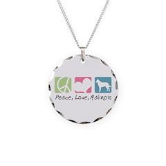 Peace, Love, Malinois Necklace