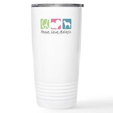Peace, Love, Malinois Travel Mug