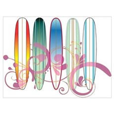 Board Swirl Poster