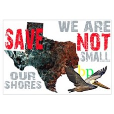 We Are Not Small BP Texas Framed Print