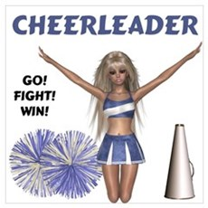 Cheerleader #1 Canvas Art