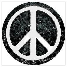 Original Vintage Peace Sign Poster