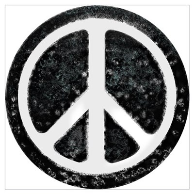 Original Vintage Peace Sign Poster