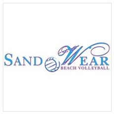 Sand Wear Beach Volleyball Framed Print
