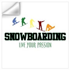 SNOWBOARDING Wall Decal