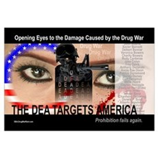 The DEA Targets America (11x17) Poster