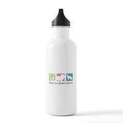 Peace, Love, German Shepherds Water Bottle