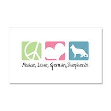 Peace, Love, German Shepherds Car Magnet 20 x 12