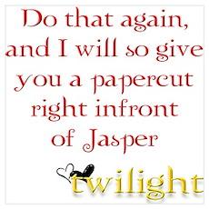 Twilight Papercut Jasper Poster