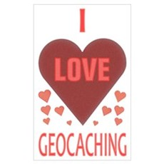 I Love Geocaching Framed Print