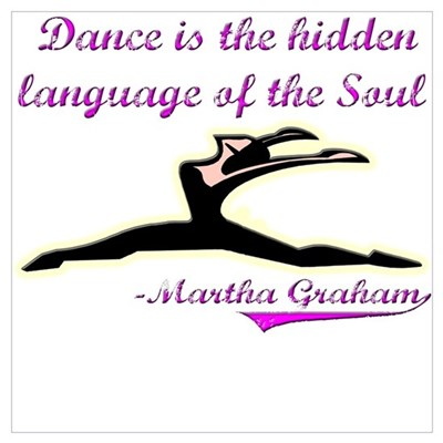 Dance Quote Gift Items Framed Print