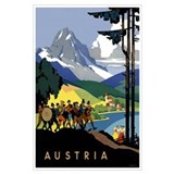 Austria vintage travel Wrapped Canvas Art
