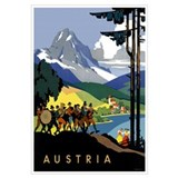 Austria vintage travel Posters