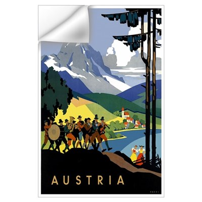 Austria Band Travel Wall Decal