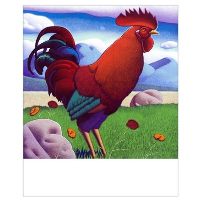 Small Claudius Rooster Poster