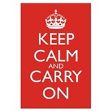 Keep calm and carry on Framed Prints