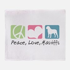 Peace, Love, Mastiffs Throw Blanket