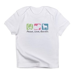 Peace, Love, Mastiffs Infant T-Shirt