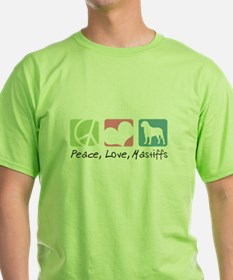 Peace, Love, Mastiffs T-Shirt