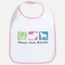 Peace, Love, Mastiffs Bib