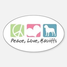 Peace, Love, Mastiffs Decal