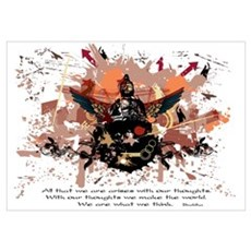 Buddha Buddhist Grunge Poster