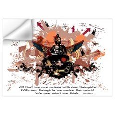 Buddha Buddhist Grunge Wall Decal