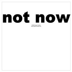 not now Poster