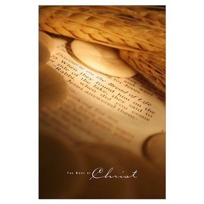 Wheat and Hosts on Bible Poster