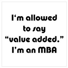 Value Added MBA Canvas Art