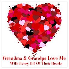 Grandma and Grandpa Love Me Valentine Poster