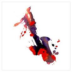 Paint Splat Saxophone Poster
