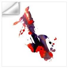 Paint Splat Saxophone Wall Decal