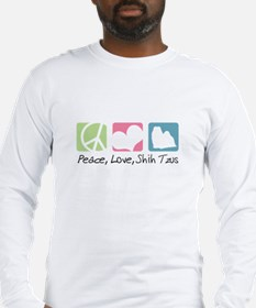 Peace, Love, Shih Tzus Long Sleeve T-Shirt